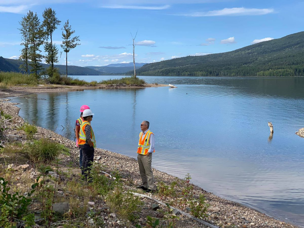 Site tour of Quesnel lake